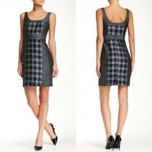 Trina Turk Dress Houndstooth Print Size 8